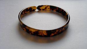 bracelet écaille de tortue bracelet de résine de tortue bracelet de résine de tortue 0,9 cm (0,47 pouces) x 7,00 cm (2,76 pouces)