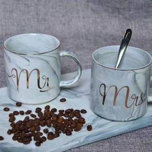 Tazze di marmo in ceramica Tazze di latte Tazze da caffè Creative Breakfast Tazze per gli amanti Fashion Mug Tazze da tè