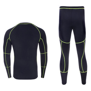 Intimo termico Set 2018 New Men Winter Fleece Long Johns Warm Warm Thermo Underwear Ispessimento Collant traspirante
