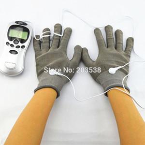 Stimulateur électrique Body Relax Massager Thens Acupuncture Masseur Doigt Électrique avec Fibre Électrode Massage Gants