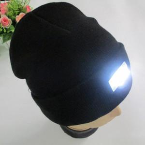Led Hiver Beanie mode led rougeoyante tricoté casquettes Rougeoyante Chapeau 5 led lueur chapeau vente chaude