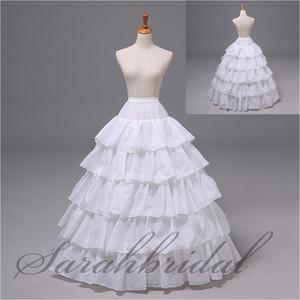 12004 Ventas caliente en la acción 5 Capa 4 aro enaguas con los vestidos del banquete de boda del vestido de bola-line blanco