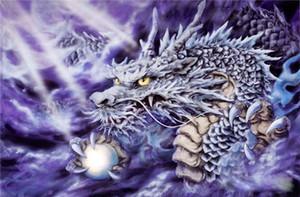 5D Diamante bordado costura bricolaje Pintura diamante Kits de punto de cruz animal dragon totem ronda completa diamante mosaico Room Decor yx1366