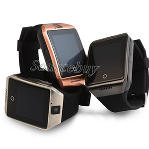 A buon mercato Q18 Buetooth Smart Watch Supporto SIM TF Card Connessione wireless NFC SmartWatch con controllo remoto della fotocamera Facebook Sync Date For IOS