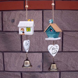 Resin House Wind Chimes Ornaments Cute Cartoon Windbells Creative Home Decor Resin Fancy Hanging Decoration Gift