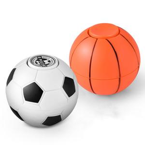 2017 créatif plus récent ABS main spinner football basket spinner doigt football fidget balle avec sac d'opp pour enfants cadeau de noël