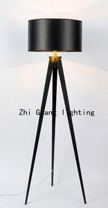 Скандинавский минималистский творческий тканевый светильник tripod hotel project столовой спальни кабинет треугольный торшер