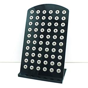 Yüksek Miktar Ekran Standları Moda 12mm Snap Düğmesi Siyah Akrilik Kavşağı Takı Metal Ekran Durum Kurulu