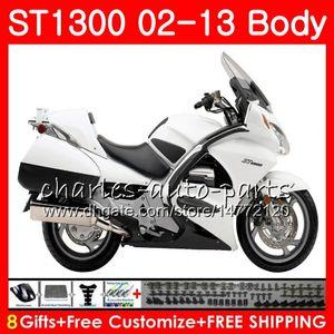 Branco brilhante para HONDA STX1300 ST1300 Pan European 00 01 02 03 04 05 06 93NO11 ST-1300 ST 1300 2000 2001 2002 2003 2004 2005 2006 Carenagem