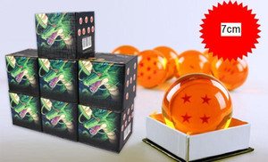 2016 10pcs / lot اليابان الجديدة أنيم 7cm DragonBall 7 Stars Crystal Ball 1 / 1 Star Dragon Ball Z Rubber Material