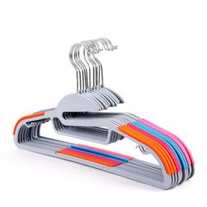 Perchas antideslizantes con gancho de acero inoxidable Percha Perchero a prueba de viento Diseño de arco circular Estantes de ropa Colorido 1 68ld B