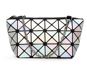 Новая мода женская косметичка геометрическая складной Lingge сумка макияж сумки для дам красоты сумки
