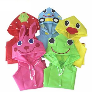 판매를위한 착용 코트 비가 두꺼운 어린이 만화 사랑스러운 레인 코트 아기 레인웨어 PE 옥스포드 유치원 어린이