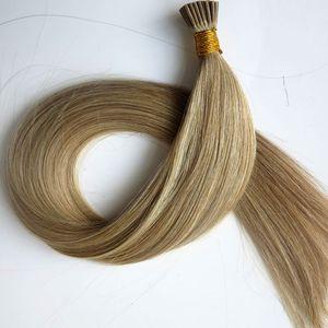 Ön gümrük I İpucu Brezilyalı İnsan Saç Uzantıları 50g 50 Ipliklerini 18 20 22 24 inç M8613 Düz Hint Saç ürünleri