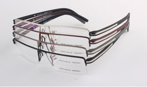 Fashion Optical Myopia Half-rim Square metal glasses frame for Men 55-16-140 four colors eyeglasses p8127 style