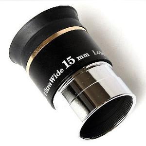Freeshipping 1.25 pulgadas 66 grados Ultra wide 15mm ocular para telescopios