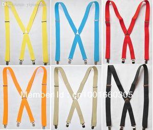 Bretelle per gli uomini Bretelle per gli adulti Bretelle per elastici X-Back Bretelle elastiche nere