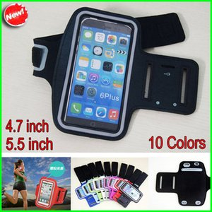 Fascia da braccio morbida per cinturino in pelle morbida da 4.7 / 5.5 pollici Sport ArmBand per iPhone 6/6 più iPhone 5 5s Fascia da braccio da corsa sportiva Samsung S3 S4 S5 impermeabile 5s