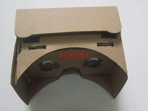 """50pcsDHL Shippig libero fai da te magnete Google cartone realtà virtuale VR cellulare occhiali di visione 3D per 5.0 """"schermo Google VR 3D occhiali"""