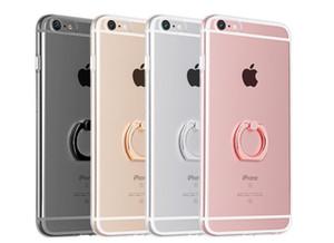 """Antichoc Transparent Tpu iphone X cas avec porte-anneau en métal pour Iphone 6 7 plus 4.7 """"5.5"""" couverture arrière Intégrer Stent Anneau Stent"""
