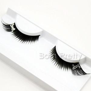 Gros faux-bouclé partielle longue strass faux cils pour la beauté fête scène yeux maquillage