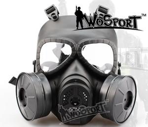 WoSporT Crânio Tático V4 Cosplay Completa Vox Tático CS Wargame Airsoft Paintball Dois Ventilador Máscara De Gás De Segurança