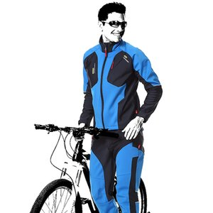 Gros-Outdoor Sports Cyclisme Hommes À Manches Longues Pantalons EnsemblesPhantom Respirant Chaud Professionnel Hiver Vélo Sportswear 03259