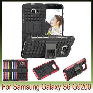 Pour Samsung Galaxy S6 Edge S5 mini S4 Note4 A3 A5 A7 Téléphone Stents Hybride Heavy Duty dot TPU Cas de Cas Antichoc