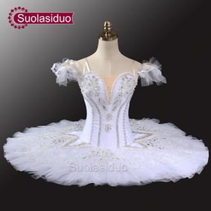 White Swan Lake Professionelle Tutu Mädchen Ballerina Kostüme Frauen Platte Tutu Pfannkuchen Ballett Tutu Leistung SD0034