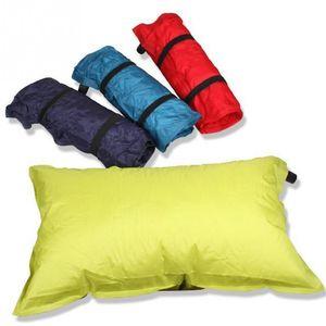 yihanstore Outdoor inflável macio Pillow Almofada Automatic Air travesseiro para Camping Caminhadas viagem cor aleatória