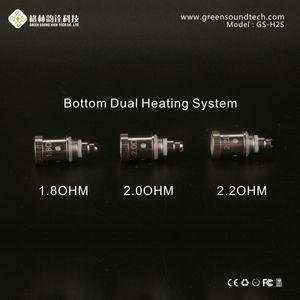 Vente chaude GS-H2S double bobine pour GS H2S Atomizer avec bobine inférieure de GreenSound GS H2s tête de bobine Clearomizer pour moi e-cigarette