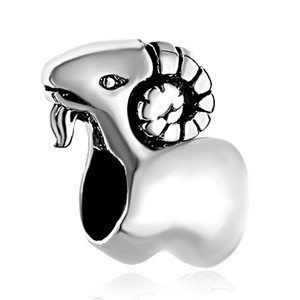 مجوهرات شخصية لطيف الحيوان الأغنام الأوروبي حبة معدنية سحر سوار السيدات مع الحفرة الكبيرة باندورا Chamilia متوافق
