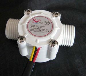 """Al por mayor-libre nave, G1 / 2 """"sensor de flujo de agua del calentador de agua YF-S201 medidor de flujo de flujo Hall sensor de control de agua 1-30L / min 2.0MPa"""