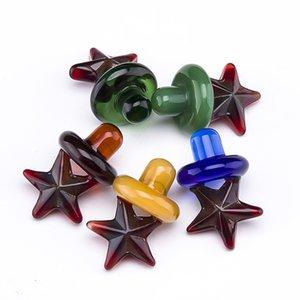 Yeni varış Renkli cam kabarcık yıldız carb kap için Kuvars banger Çivi cam su boruları toptan