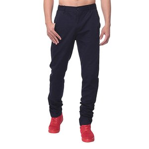 Wholesale- 2017 Solid Color Autumn Men Business Formal Trousers chinos Male Slim Fit Casual Pants For Mens Cotton Straight Work Suit Pants