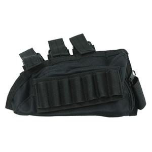 Funpowerland Good QualityBlack Color Shotgun Buttstock Shell Holder Cheek Rest Envío gratuito