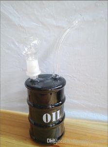 Barrel Oil Drum Rig High Tech Glass - Oil Drum Oiler Rig 14.5mm Oil Rig Recycler 14mm Vetro per fumatori Vetro Oil Rig