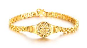 Hızlı Ücretsiz Nakliye İnce Konik kaplama 18 k sarı altın erkekler ve kadınlar Bilezik Genişliği: 5mm Uzunluk: 18mm uzatılabilir 5cm Ağırlık: 10g