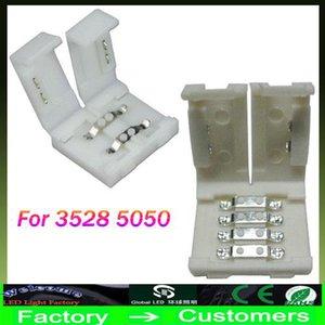 Новейшие светодиодные полосы разъемы для 8 мм 3528 и 10 мм 5050 5630 smd один цвет и 4pin DC RGB 5050 светодиодные полосы света нет сварки быстро led