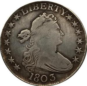 1803 drapeado busto meio dólar moeda copiar frete grátis