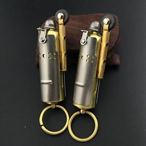 Trench Lighter Solid Brass WWI WWII Vintage Style Wheel Kerosene Lighter