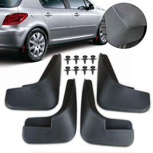 New 4Pcs Mud Flaps Flap Splash Guards Mudguard Mudflaps Fenders For Peugeot 307 2000 2001 2002 2003 2004 2005 2006 2007