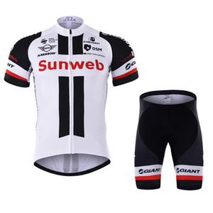 2017 новый Sunweb Велоспорт Джерси велосипед с коротким рукавом рубашки / нагрудник / шорты дышащий велосипед одежда спортивная мужская велоспорт одежда L1402