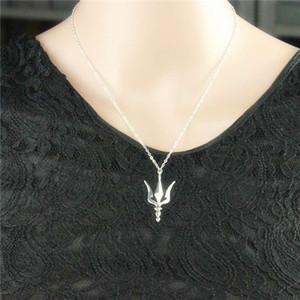 10 UNIDS- N061 Poseidón Trident Collar Neptuno Griego Lanza Collar Trishul Ucrania Símbolo Collar Arma Lanza Collares