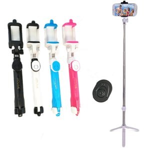 Selfie stick Tripods bluetooth timer selfie monopods Extendable Self Portrait Stick remote for Android Iphone smartphone