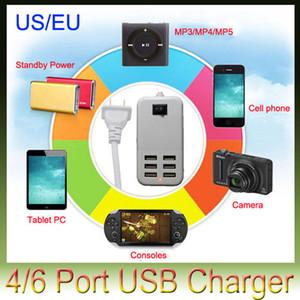 4/6 portas USB Carregador de Viagem AC 5V 6A USB Desktop Charger Adaptador de parede Carregador US / EU Plug para entregas Tablet PS4