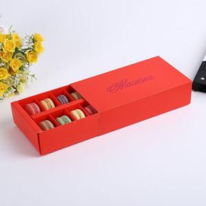 12 Bardak Kağıt Macaron Kutusu Ambalaj Çekmece Tipi Bisküvi Pasta Çikolatalı Kek Kutuları Düğün Parti Hediye Için wen4727