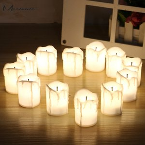 Nuovo design 12 pz Led elettronico senza fiamma alimentato a batteria Tealight Candle Lights Candle Lamp Wedding Party Decora