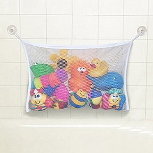 Vente en gros-HOT bébé jouet maille sac de rangement baignoire baignoire poupée organisateur aspiration salle de bain substance net 91MG