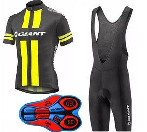 2017 Giant New Cyclisme maillot + cuissard à bretelles set hommes Fluo jaune et noir